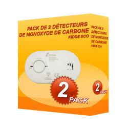 Pack de 2 détecteurs de Monoxyde de Carbone Kidde 5CO