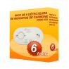 Pack von 6 detektoren, Kohlenmonoxid Kidde 5CO