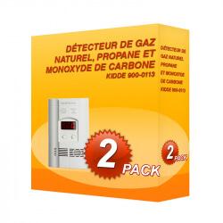 Pack de 2 detectores de gás natural, o propano e o monóxido de carbono Kidde 900-0113