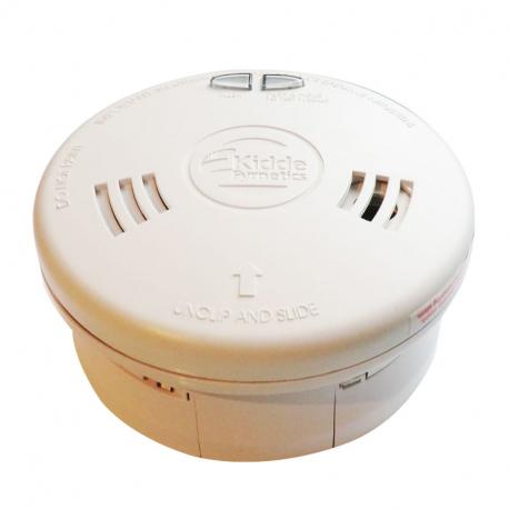 Détecteur de fumée Kidde 10Y29 avec bouton de pause et pile lithium scellée