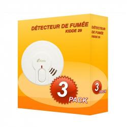 Pack de 3 Detectores de fumaça Kidde 29-FR