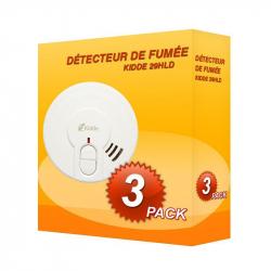 Pack of 3 Kidde 29HLD-FR smoke alarms