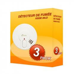 Pack de 3 Detector de fumaça Kidde 29LD-PT