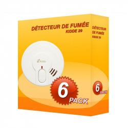 Pack de 6 Detectores de humo Kidde 29-FR