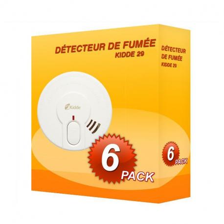 Pack de 6 Détecteurs de fumée Kidde 29-FR