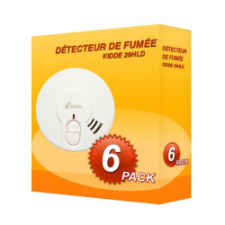 Pack of 6 Kidde 29HLD-FR smoke alarms