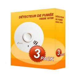 Pack de 3 Detectores de fumaça Kidde 10Y29