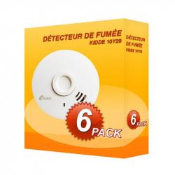 Pack de 6 Detectores de fumaça Kidde 10Y29