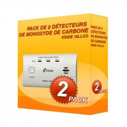 Pack de 2 détecteurs de Monoxyde de Carbone Kidde 10LLCO