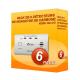 Pack de 6 détecteurs de Monoxyde de Carbone Kidde 10LLCO