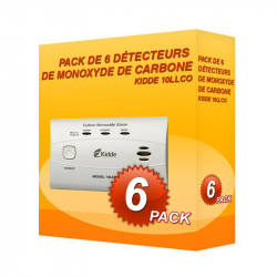 Pack of 6 Kidde 10LLCO carbon Monoxide alarms