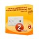 Pack of 2 Kidde 7CO carbon Monoxide alarms