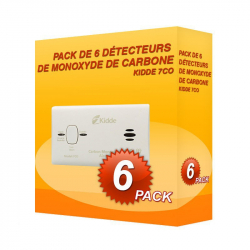 Pack de 6 detectores de Monóxido de Carbono Kidde 7H