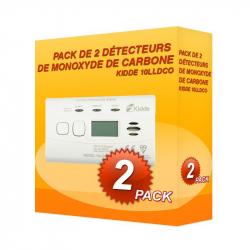 Pack de 2 détecteurs de Monoxyde de Carbone Kidde 10LLDCO