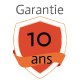 Détecteur de monoxyde de carbone Kidde 10LLDCO - Garantie constructeur 10 ans
